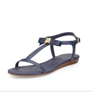 Kate Spade Tessa Bow leather flat sandals 7 BS3